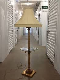Vintage End Table With Lamp Attached by Mid Century Hollywood Regency Italian Tole Lily Table Floor Lamp