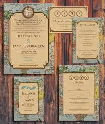 Rustic Vintage Travel Theme Wedding Invitation Di ConteurCo