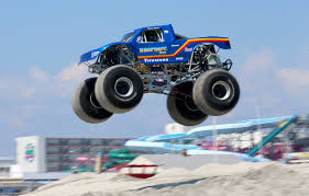100 Monster Trucks Nj Sighting In NJ Compete For Beach Title PHOTOS