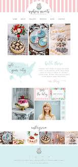 Wix Website Template Design Bakery Cupcake Fashion Blog