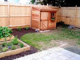 the cedar lean to shed fits nicely along a fence and is awesome