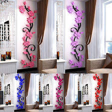 3D Romantic Rose Flower Wall Sticker Removable Home Decor Decal Room Vinyl