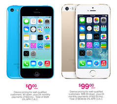 T Mobile announces new iPhone pricing $0 down for 5c $99 down for 5s