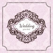 Wedding Invitation Vector At GetDrawingscom Free For