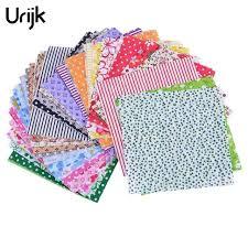 tissus pour rideaux pas cher urijk 50 pcs 10x10 cm coton tissu pour patchwork se sentait pas