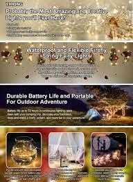 Outdoor Halloween Decorations Amazon by Amazon Com 6 Pcs Fairy Lights Fairy String Lights Battery