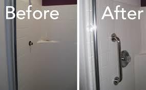 install grab bars bathroom todds porcelain fiberglass repair