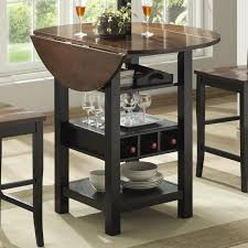 Round Dining Room Sets With Leaf by Ridgewood Counter Height Drop Leaf Dining Table With Storage