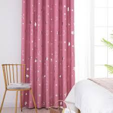 fenstervorhang gedruckt moon solid vorhang vorhänge wohnzimmer schlafzimmer vorhang ösen kinderzimmer 100x130cm rosa