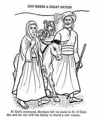Abraham And Sarah Coloring Page