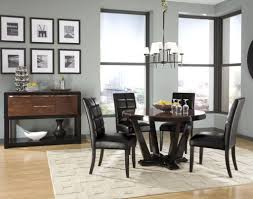 Dining Room Breathtaking Black Sets Inspiration With Rounded Table And Cozy