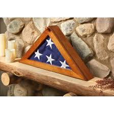 CASTLECREEK Flag Display Case It On A Shelf Or Mantle