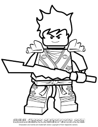 Kai Ninjago Coloring Pages For Kids Printable Free Lego Page