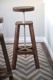 ana white industrial adjustable height bolt bar stool diy projects