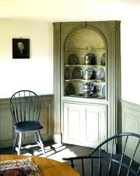 Corner Wood Cabinets Dining Room For Farmhouse Cabinet Built In Showcases Raised