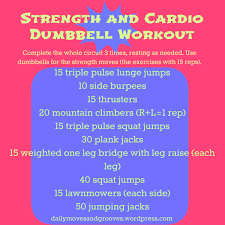 Thursday Things Strength And Cardio Circuit Workout Daily Moves