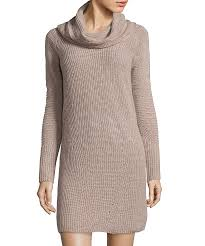 hayden butterscotch cashmere cowl neck sweater dress bluefly com