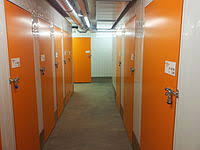 Inside A Self Storage Facility With Rollup Door Left And Hinged