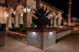 Griffin Ranch Project Path and Archway illuminated by Alliance