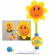 Sunflower Bath Gift Set by Children Sunflower Shower Baby Bath Toys Faucet Bath Learning Toy