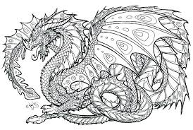 Hard Coloring Pages For Adults Difficult Page Dragon