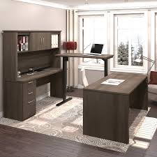 Bestar U Shaped Desks by Logan U Shape Workstation With Adjustable Bridge