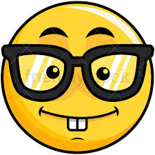 Nerdy Yellow Smiley Emoticon PNG