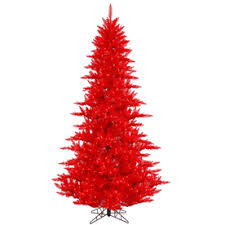 Vickerman 45 Ft Pre Lit Whimsical Slim Artificial Christmas Tree With 250 Constant Red