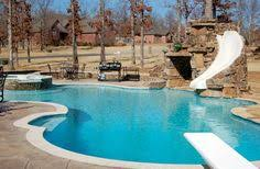 A Fun Pool For The Whole Family With Built In Slide Diving Board And Raised