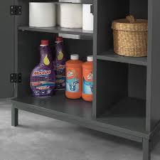 sobuy bzr24 dg waschbeckenunterschrank mit 2 ablagen und 1 tür badschrank waschtisch unterschrank