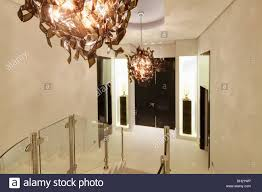 Unusual Light Fittings In Large Modern Spanish Hall With Glass ... Best 25 Interior Railings Ideas On Pinterest Stairs Stair Case Banister Banisters Staircase Model Indoor Railings Unique Railing Styles Latest Elegant Ideas Uk Design With High Wood Handrail Timber This Staircase Uses High Quality Wrought Iron Balusters To Create A Mustsee Fixer Upper Reno Rustic Barn Doors And A Go Unusual Pink 19th Century Balcony With Wooden In Light Fittings In Large Modern Spanish Hall Glass Home By Larizza Contemporary Stairs Floating