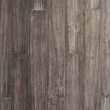 Eco Forest Laminate Flooring by Ecoforest Pewter Handscraped Locking Water Resistant Bamboo 7mm