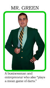 Mr Green Clue Card Costume By NezObiwan13