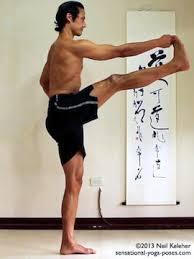 Sensational Yoga Poses Model Neil Keleher Balancing On One Leg In Utthitta Hasta Padangusthasana