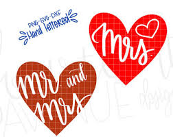 Mr And Mrs SVG PNG DXF Wedding Text