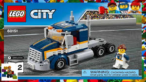 100 Lego Truck Instructions LEGO Instructions City Traffic 60151 Dragster Transporter