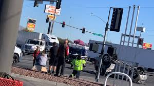 100 Las Vegas Truck Accident Attorney Ambulance And SUV Crash In North No Serious