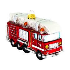 100 Fire Truck Red Joyland Christmas Ornament