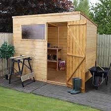 8 x 6 waltons tongue and groove pent wooden shed waltons sheds