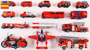 100 Fire Trucks On Youtube Learn Rescue Vehicles For Kids Children Toddlers Babies