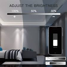 maxcio wifi rotary dimmer light switch for inc cfl led bulbs