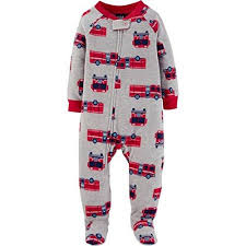 100 Fire Truck Pajamas Child Of Mine Carters Boys 2T Truck Gray Fleece Footed Pajama