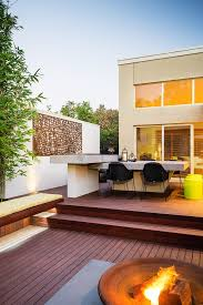 Outdoor Wall Decor Deck Contemporary With Letterbox Metal Fire Bowls And Pits