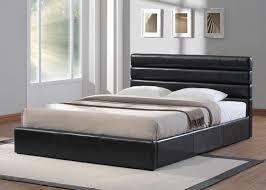 chambre avec lit noir choisissez un lit en cuir pour bien meubler la chambre à coucher