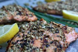 Roasted Pumpkin Seeds Glycemic Index by Pumpkin U0026 Sesame Seed Crusted Salmon For A Digestive Peace Of