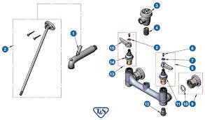 b 0665 bstp service sink faucet wall mount 8 centers built in