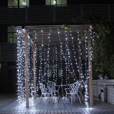 Brylane Home Lighted Curtains by 3mx3m 300 Led String Lights Curtain Lights 220v Light Home Balcony