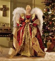 16 Red And Gold Angel Tree Topper Diy Christmas