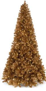 9 Copper Tinsel Christmas Tree