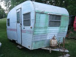 An Older Small Travel Trailer